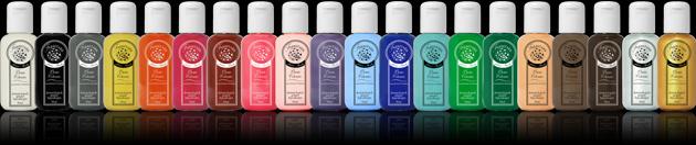 Große Farbauswahl an Schminkfarben für Bodypainting